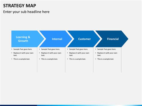 strategy map template strategy map powerpoint template sketchbubble