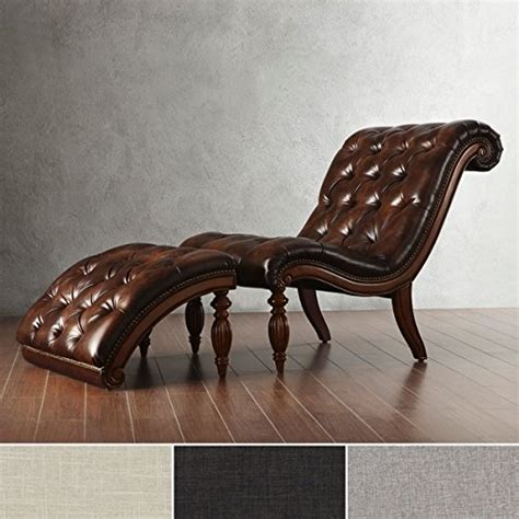 Chaise Lounge Indoor Leather Product Reviews Buy Brown Leather Chaise Lounge Chair With Ottoman Lounge Indoor