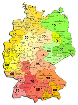 zip code map germany germany postal code map