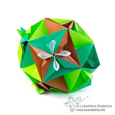 Cuboctahedron Origami - kusudama me modular origami cuboctahedron unit