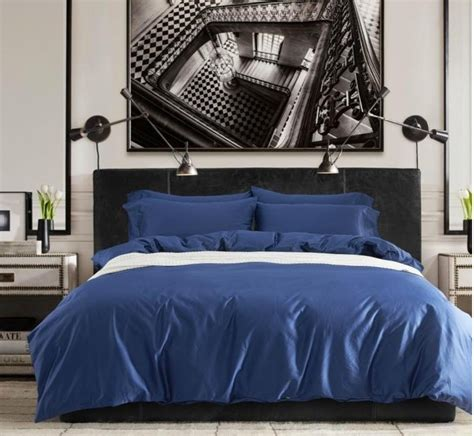 blue king size bedding sets cotton sheets solid cobalt blue bedding set king