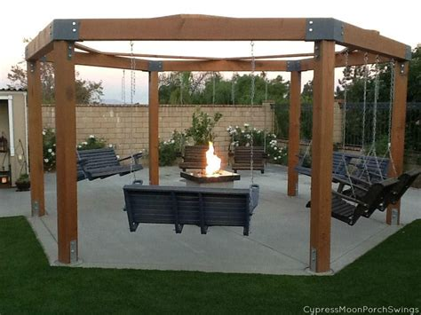 Gazebo with Fire Pit Plans   Fire Pit   Pinterest
