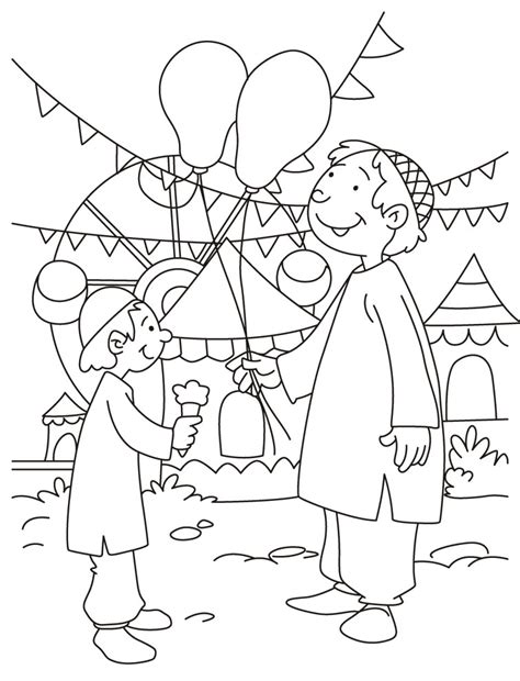 celebrating eid coloring page download free celebrating