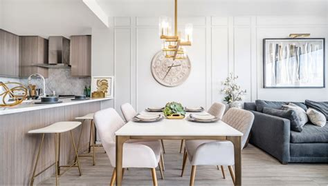 small space condo project eclectic dining room