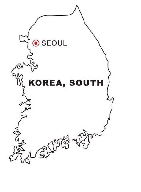south korea map coloring color area