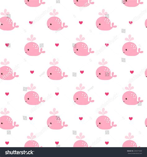 whale pattern background tumblr cute background cartoon pink whales baby stock vector