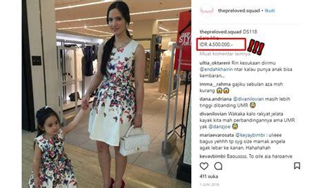 Dress Bunga Tipis cucu abu rizal bakrie jual baju bekas harganya bikin rakyat jelata sesak napas boombastis