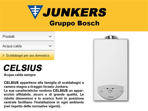 celsius camini junkers celsius scaldabagno istantaneo a gas grassia srl