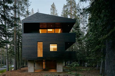 Ultramodern Cabin Creative Modernist Forest Built To Withstand Heavy Snowfall Dashing Cabin In Sugar