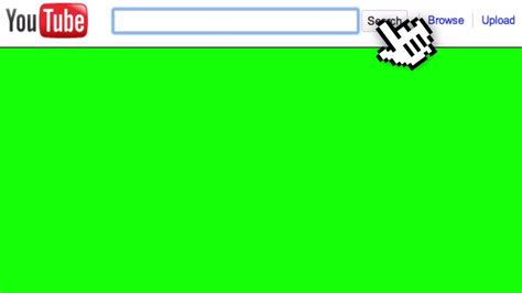 search bar green screen with sound effect give