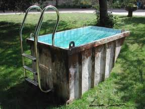 Bathtub Liners Cost Dumpster Transformed Into A Trashtastic Portable Mini Pool