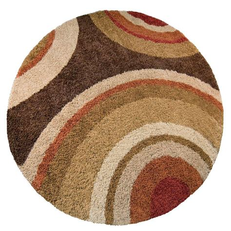 Rounds Rugs Concord Global Trading Chester Leafs Brown 7 Ft 10 In Area Rug 97889 The Home Depot