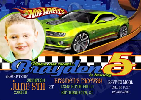 Hot Wheels Birthday Party Invitations Free Invitation Templates Drevio Wheels Birthday Invitation Template