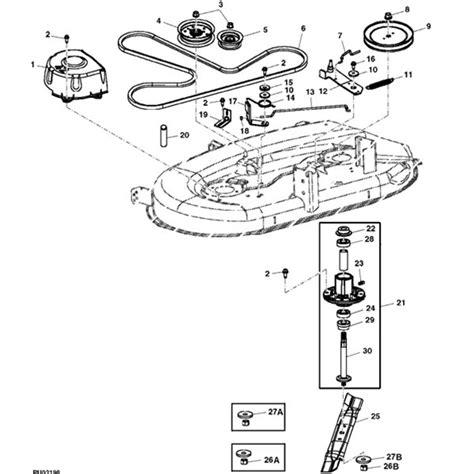 deere deck parts diagram deere 42 quot la100 la110 la120 deck parts diagram