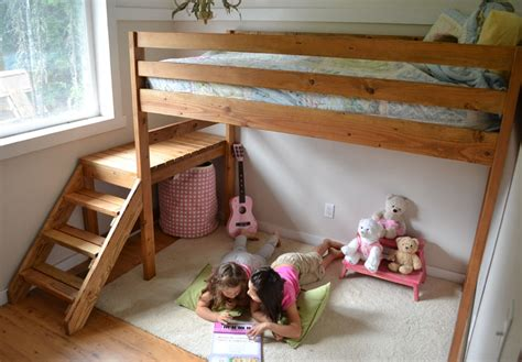 how to build a loft bed for kids ana white c loft bed with stair junior height diy