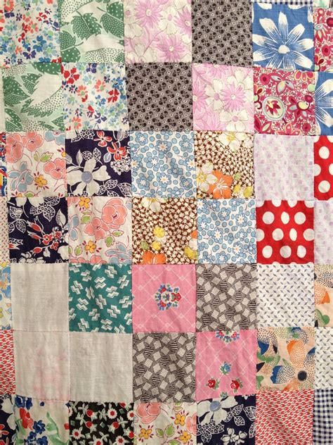 mill vintage feed sack quilt top