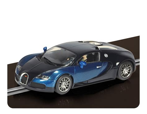 bugatti veyron scalextric car voiture slot bugatti veyron bleu scalextric