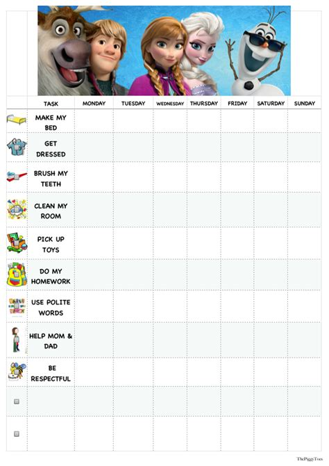 printable frozen sticker chart 11 best images of frozen behavior chart disney frozen