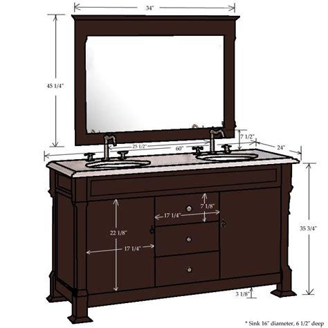 60 quot traditional sink vanity combo classic