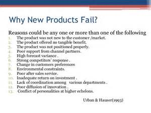 Products New by New Product Failures