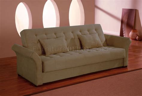 Clik Clak Sofa Bed Click Clack Sofa Bed Convertible In Delux Khaki Microfiber