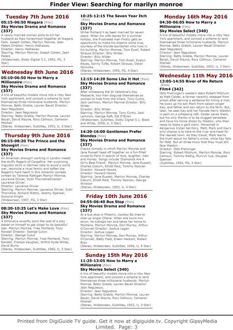 printable tv schedule uk television uk europe may schedule immortal marilyn