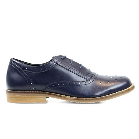 vegan oxford shoes s navy blue vegan leather perforated oxford shoes