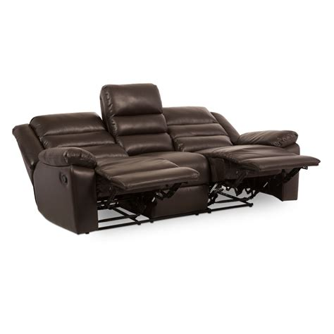 3 Seater Brown Leather Recliner Sofa Leather Recliner Sofa 3 Seater Apolon Brown Price 619 70 Eur Pu Leather Recliner