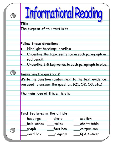 Text Features Worksheet 2nd Grade by Nonfiction Text Features Worksheet 2nd Grade Worksheets
