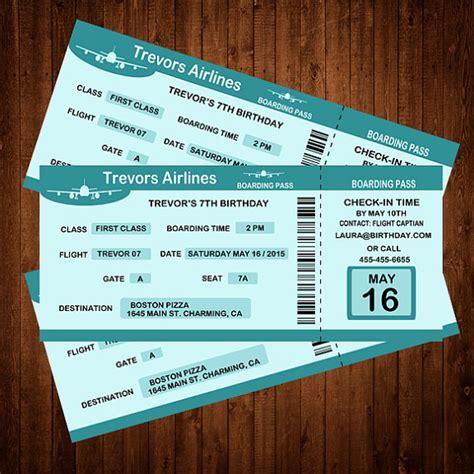 Hochzeitseinladung Flugticket Vorlage by Bordkarte Geburtstag Einladung Personalisierte Einladung