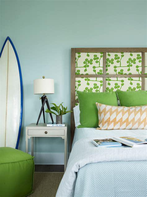 Coastal Bedroom Sets Paneled Headboard Cottage Boy S Room Sherwin