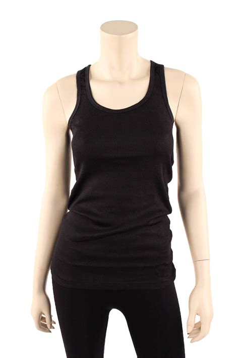 Green Blue Black Rib Basic Top 31867 מוצר womens tank top 100 cotton heavy weight ribbed a
