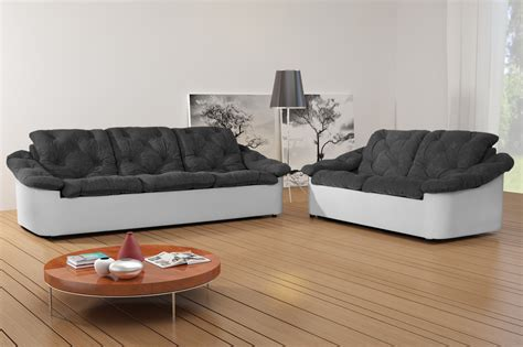 canapé fixe 4 places salon gris et blanc