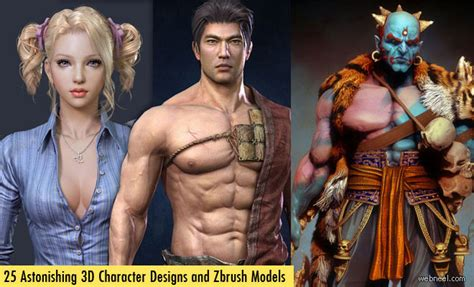 zbrush tutorials characters made easy 80 astonishing zbrush models and 3d character designs for