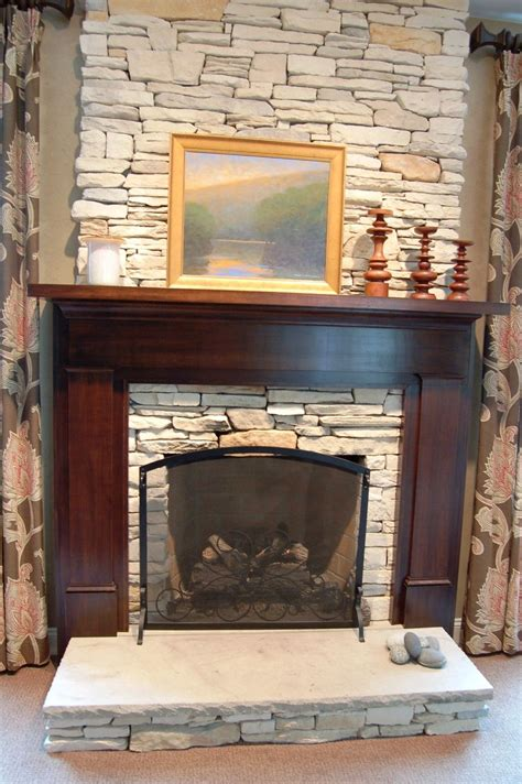 custom craftsman fireplace surround by nh accents