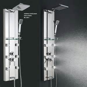 Addison Delta Kitchen Faucet stainless steel rainfall shower panel tower tub faucet 6