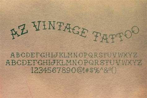 tattoo fonts vintage az vintage serif fonts on creative market