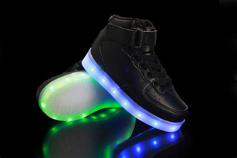 boys usb charging led light up luminous sports