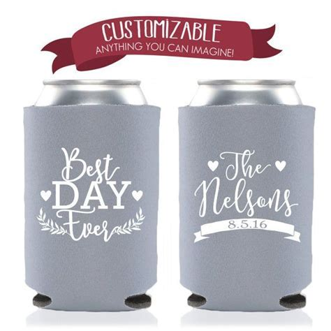Best Day Ever Custom Can Cooler Wedding by