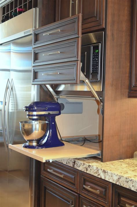kitchen appliance storage cabinet best 25 kitchen appliance storage ideas on pinterest