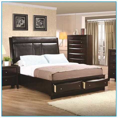 Cal King Bed Frame With Drawers California King Bed Frame With Drawers
