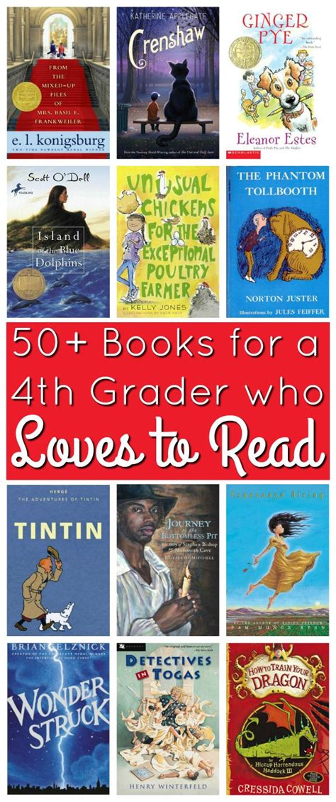 The Book Of List 4 50 books for a 4th grader who to read book list