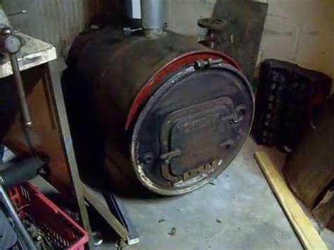barrel wood stove  heat exchanger youtube