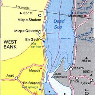 the dead sea map map of dead sea area