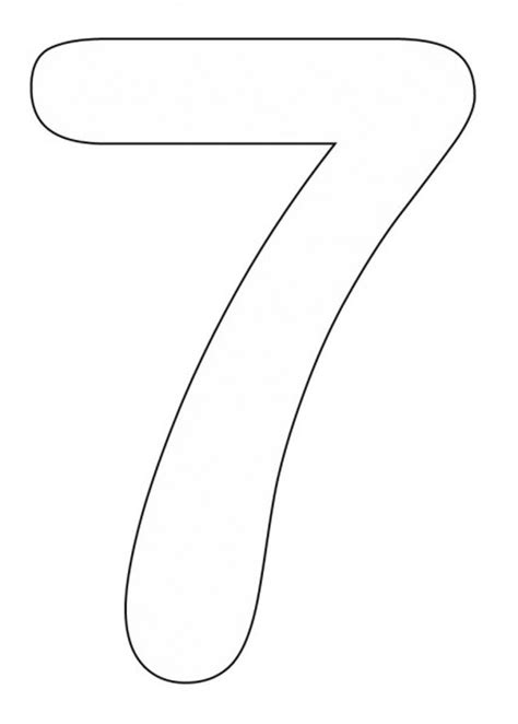 Numbers Coloring Part 4 Number 7 Coloring Page