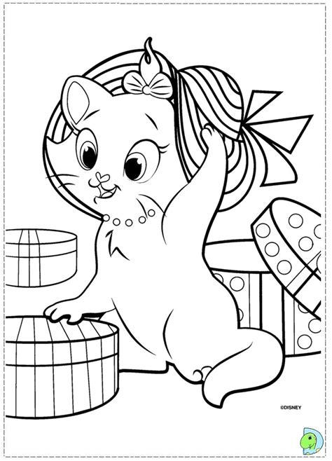 free coloring pages of marie cat