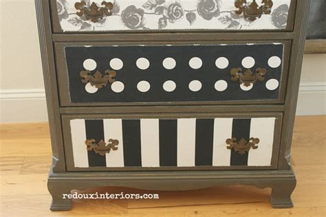 Decoupage Dresser With Fabric - how to decoupage fabric painted wood