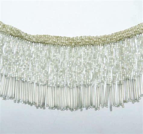 beaded fringe for curtains upholstery decorative white beaded fringe ribbon curtain