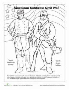 civil war coloring pages civil war worksheet education
