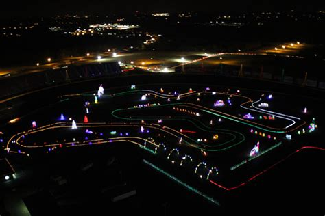 auto speedway christmas lights here s a nascar track covered in 3 million christmas lights